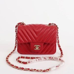 Chanel red crossbody bag